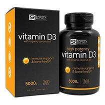 La Vitamina D3 (5000iu) En Aceite De Coco Orgánico Prensado
