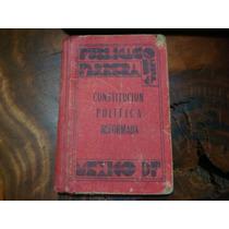 Libro Antiguo De La Constitución Política De 1946