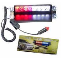 Luces Policiacas Zhol 8 Led Visor Dashboard Emergency Strob