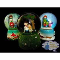 Esfera Musical De Cristal Nieve Decorativa Varios Modelos