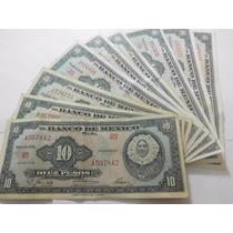 Un Billete 10 Pesos Tehuana En Condicion Usado