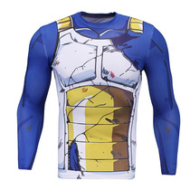 Playera Vegeta Dragon Ball Crossfit Compresión Manga Larga