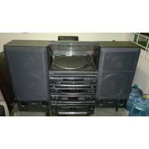 Modular Panasonic Mod Sa-m510 Phono,cds,2 Caseteras,2 Bafles