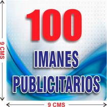 100 Imanes Publicitarios De 9x9 Cms A Todo Color