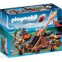 Playmobil 6039 Caballeros Leon Y Catapulta Medieval Retromex