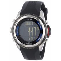 Reloj Seiko Pulsar Tech Gear Digital Plastico Negro Ps7001