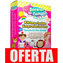 Kit Imprimible Empresarial Oro + Candy Bar + 36 Kits Nuevo!!