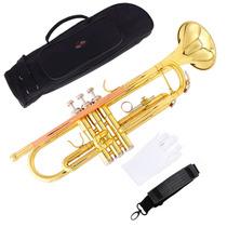 Trompeta Dorada Lade + Estuche + Guantes Profesional Nueva