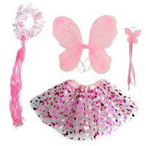 Disfraz De Hada Rosada De La Mariposa Con Las Alas Niñas, La