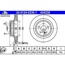 Disco Frenos Trasero Mb Cls Cls500 Cgi 4.6 2011/2014