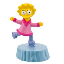 Simpsons Lisa Simpson Winter Adventures Burger King 2012 Vv4