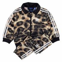 Conjunto Pants Sudadera Firebird Leopardo Bebe Adidas Ab1834