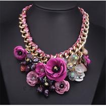 Collar De Flores De Moda Accesorios Bisuteria Regalo Dama