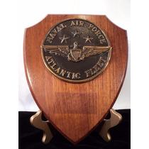 Placa En Bronce Fuerza Aerea Naval Usa Reconocimiento