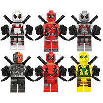 Deadpool Rojo Blanco Amarillo Deathstroke Compatible Lego