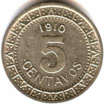 5 Cent 1910 M Excelente Condición Eum Siglo Xx