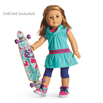 American Girl Set De Patineta Skateboardin P/muñeca Truly Me
