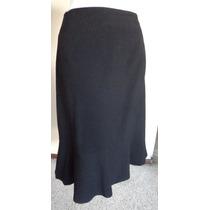Falda Negra Con Olán Inferior Talla-20w Style & Co! Fch255