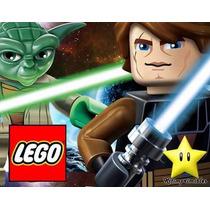 Kit Imprimible Lego Star Wars, Invitaciones Y Cajitas