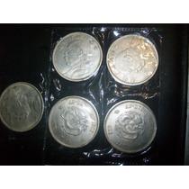 Gcg 1 Lote De 5 Monedas Didacticas Chinas Metal De La Suerte
