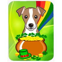 Cristal Día De Jack Russell Terrier St Patrick Tarjeta De C