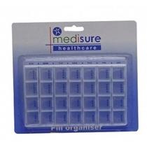 Píldora Organizador - Medisure - 28 Con Bandeja Medicamentos