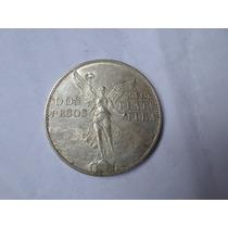 Moneda 2 Pesos Angel 1921 Xf