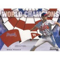 2002 Stadium Club World Champion Jersey Greg Maddux Braves