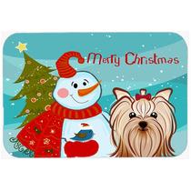 Muñeco De Nieve Con Yorkie Terrier Yorkishire De Cristal Ta