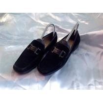 Zapatos Salvatore Ferragamo Ante Gamuza Negros 4.5