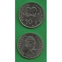 Grr-moneda De Polinesia Francesa 10 Francs 1983