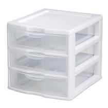 Sterilite 20738006 Clear View Mini 3-cajón Organizador Con M