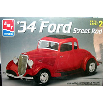 Ford 1934 Street Rod Amt Esc 1/25 Modelo Nuevo