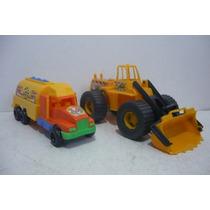 Pipa Cisterna Y Tractor Bulldozer Camioncito Juguete Escala