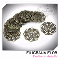 25 Filigranas Flor Bronce Para Decorar Invitaciones