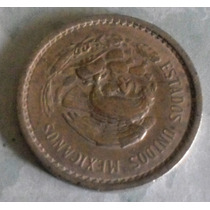 Lote 111 Mexico 10 Centavos Calendario Azteca 1945 Niquel M