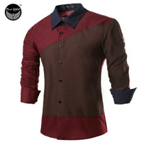 Camisa De Manga Larga Para Hombre Chemise Homme Solapa Camis