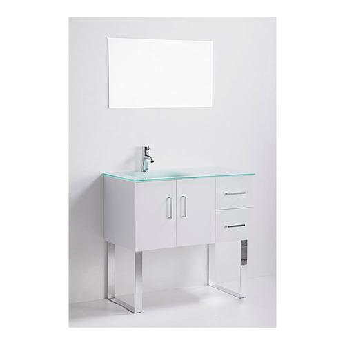 Gabinete ba o lavabo minimalista espejo gb 2114 85 gravita for Lavabo minimalista