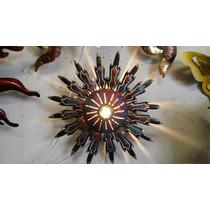 Lámpara Sol De Cobre Artesanal (mini)