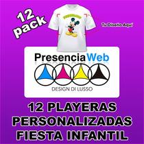 12 Playeras Personalizadas / Fiesta Infantil Gratis Diseño 1