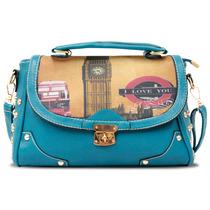 Bolsa Para Dama Casual - Bdm-1-3 Azul Turquesa