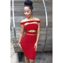 Sexy Mini Vestido Strapless Rojo Moda Fiesta Con Aberturas