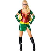 Batman Traje - Señoras Robin Superhéroe Vestido De Lujo Gr