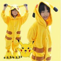 Pijamas Cosplay Pikachu Pokemon Pika Kigurumi Onesie