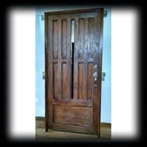 Puerta Principal De Forja Imitación Tronco