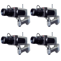 Kit Cámara Falsa Profesional Sensor De Movimiento Luz Led.