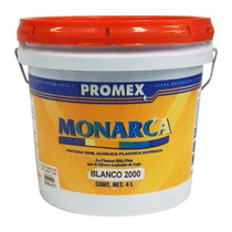 Pintura Promex Monarca Blanco Gal 4 Litros 2000.