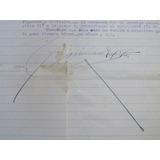 Carta Antigua Firma Autógrafa De Emiliano Zapata 1918 No.1