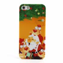 Funda Navidad Santa Claus Y Reno Iphone 5 5s Se Acro
