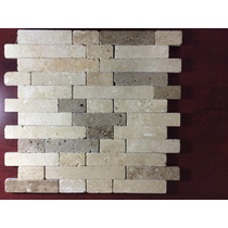 Malla Mosaico Tapete Marmol Travertino Rustic Blend